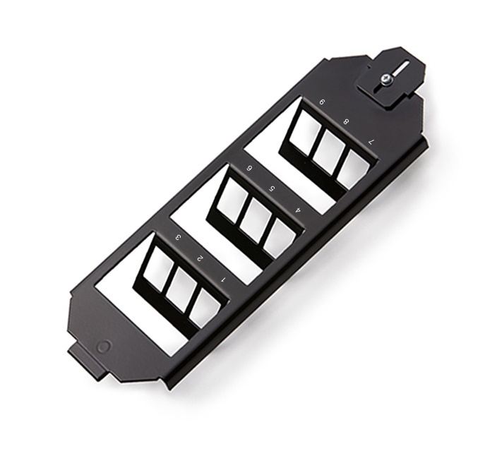 Adapter for OBO Ackermann floor boxes, for 9xRJ45, empty