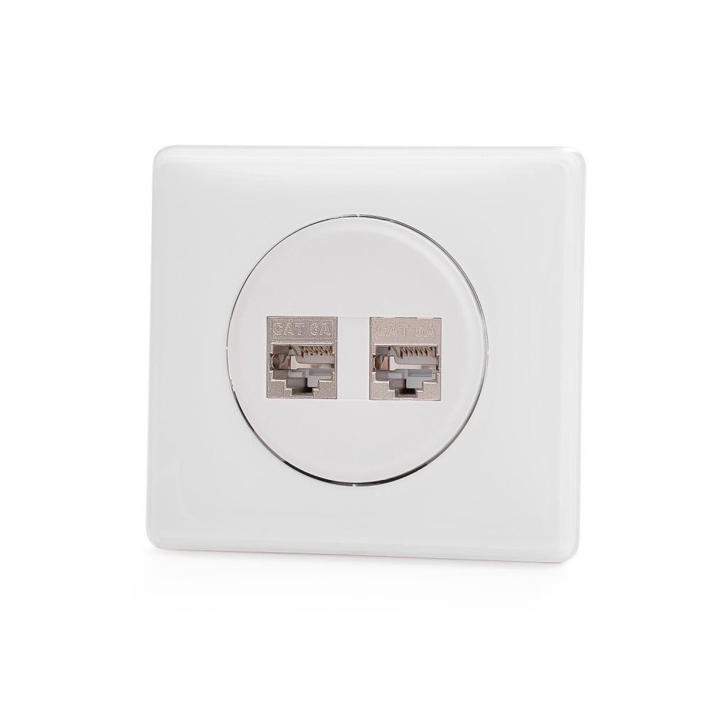 Legrand® CelianTM compatible outlet module, Category 6, 2xRJ45/s, keystones included