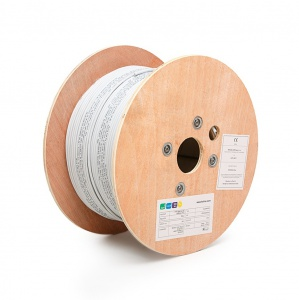 FTP (F/UTP) cable, 4x2xAWG24, Category 5E, 300 MHz, Euroclass Eca , 500 m on reels