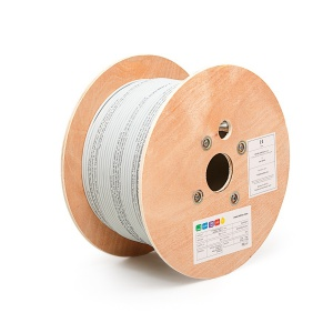 FTP (F/UTP) cable, 4x2xAWG24, Category 5E, 300 MHz, LSOH, Euroclass Dca - s2, d1, a1, 500 m on reels