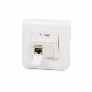 Modulo45 outlet, Category 6A, 2xRJ45/s, flush-mounted, keystones included