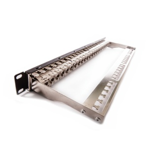 Patch panel, Category 6A, 24xRJ45/s, keystones included