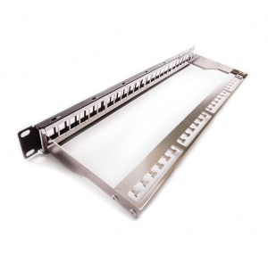 Patch panel for 24xRJ45, empty