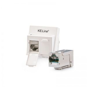 Modulo45 outlet, Category 6A, 2xRJ45/s, floor / duct-mounted, KEJ-C6A-S-HD keystones included