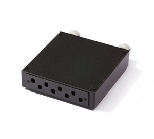 Distribution box for 8 x ST-ST or FC-FC adapters, empty