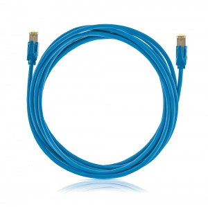 Patch cable STP, Category 6A, LSOH, blue