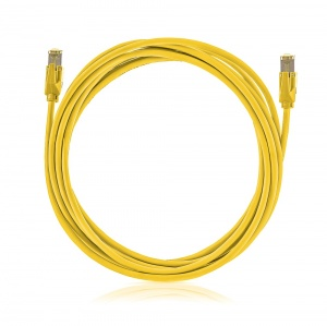 Patch cable STP, Category 6A, LSOH, yellow