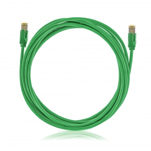 Patch cable STP, Category 6A, LSOH, green