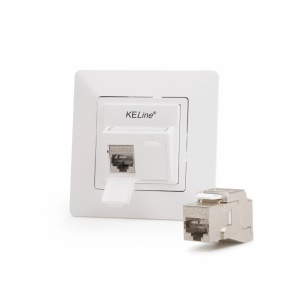 Legrand® ValenaTM Life compatible outlet module, Category 6A, 2xRJ45/s, KEJ-C6A-S-10G keystones included
