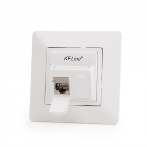 Legrand® ValenaTM Life compatible outlet module, Category 6A, 2xRJ45/s, KEJ-CEA-S-10G keystones included