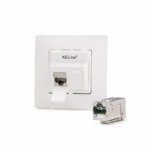 Legrand® NiloeTM compatible outlet module, Category 6A, 2xRJ45/s, KEJ-C6A-S-HD keystones included