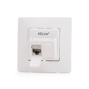 Legrand® NiloeTM compatible outlet module, Category 6A, 2xRJ45/s, KEJ-CEA-S-HD keystones included